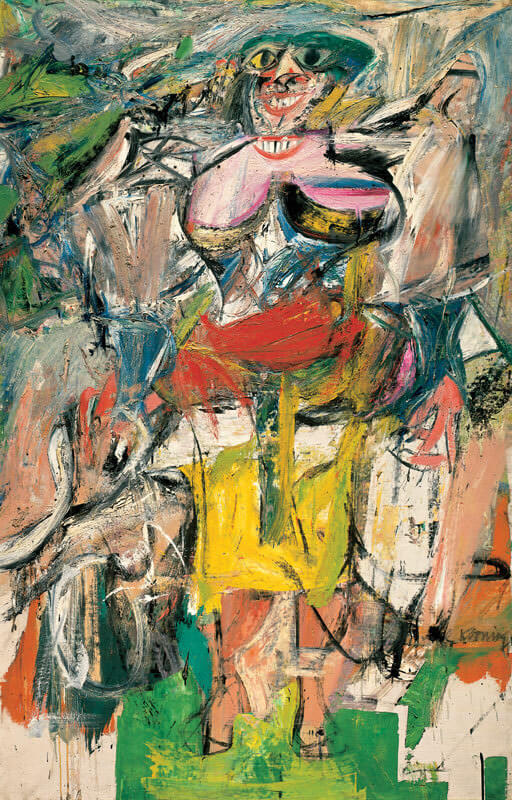 Woman with Bicycle, 1952 by Willem de Kooning